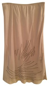 Banana Republic Silk Midi Skirt Gray