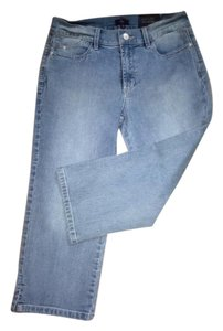 NYDJ Cropped Relaxed Size 6 Soft Comfortable Capri/Cropped Denim-Light Wash