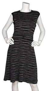 Missoni short dress Black and white Chevron Knit Fit-flare on Tradesy