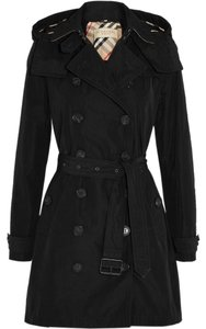 Burberry Brit Burberry Trench Black Hood Coat