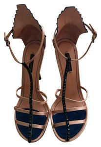 Louis Vuitton Stiletto Peep Toe Nude Navy Black Pumps