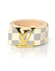 Louis Vuitton Louis Vuitton Damier Azur 40mm Initiales Belt sz EU 85