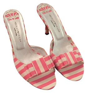 Hollywould pink and white Mules