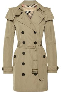 Burberry Brit Burberry Trench Hood Trench Coat