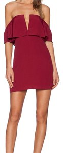 Lovers + Friends short dress burgundy on Tradesy
