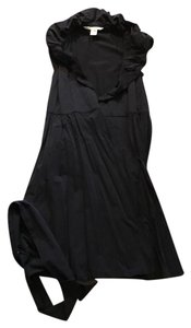 Diane von Furstenberg short dress Black Wrap Tie on Tradesy