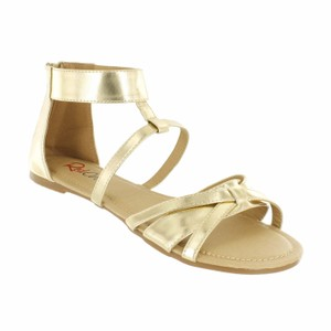 Red Circle Footwear Gold Sandals