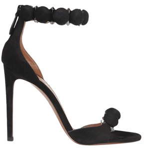 ALAÏA Suede Alaia 110mm black Sandals