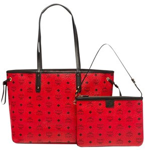 MCM Tote in red ruby