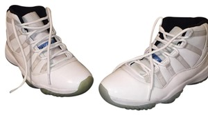 Air Jordan white and baby blue with white patten leather Athletic