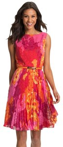 Adrianna Papell Floral Romantic Tropical Chiffon Bright Dress