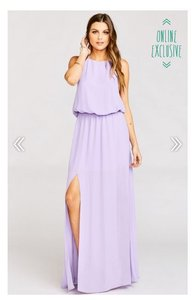 Show Me Your Mumu Lilac Crisp Heather Halter Dress