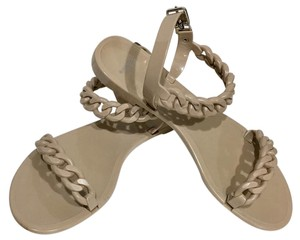 Givenchy Paris Chain Rubber Summer Nude/Sand Sandals