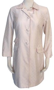 Sigrid Olsen Silk Blend Long Jacket Vintage Peach Blazer