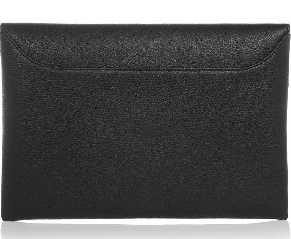 cbeb9f55fd Givenchy New Medium Antigona Envelope Black Goat Leather Clutch ...
