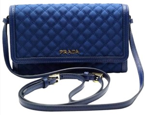 Prada nylon quilted leather crossbody wallet Cross Body Bag