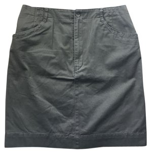 Madewell Pencil Belted Pockets Cotton Army Skirt Olive Green