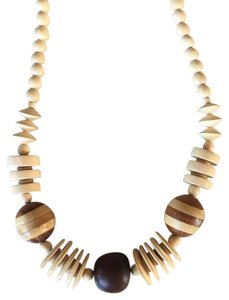 Madewell Wooden Beaded Necklace