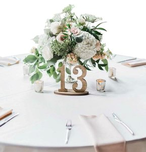 Rustic Wood Table Numbers 1-14