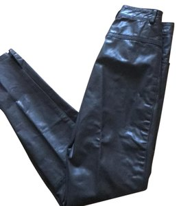 Christian Lauren Vintage Vintage Leather Leather Leather Straight Pants grey