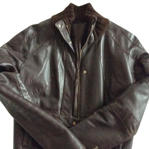 Borbonese brown Leather Jacket
