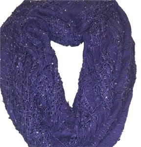 Cejon Cejon blue and metallic scarf