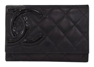 Chanel Chanel Cambon Black Quilted Lambskin Leather Wallet