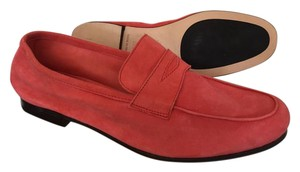 Andrea Ventura Firenze Soft Italian Suede Couture Quality Coral Flats