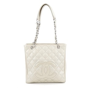 Chanel Caviar Tote in White