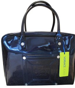 Versace Jeans Collection Bowler Satchel in Blue