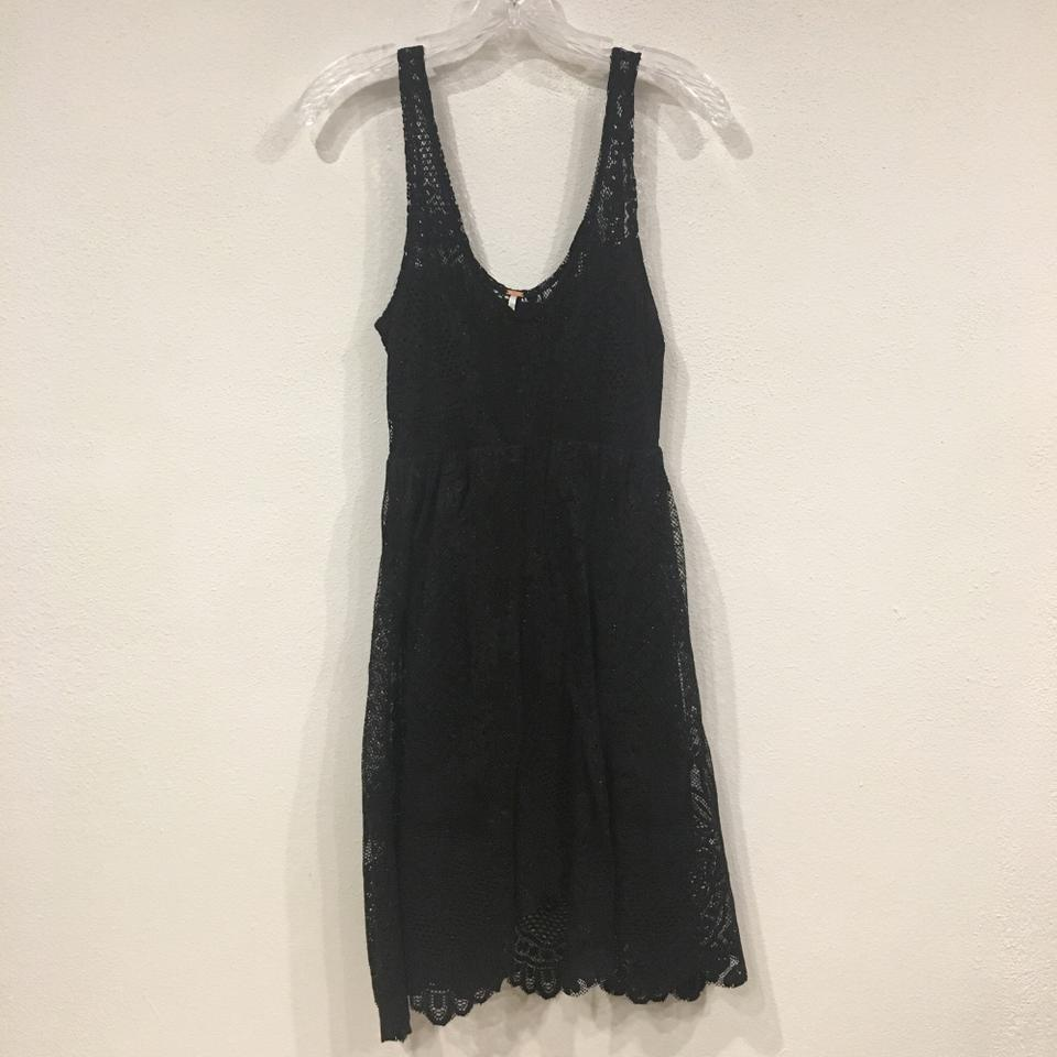 e047aa08898 Free People Black Gold Krystal Lace Mid-length Cocktail Dress Size 0 (XS) -  Tradesy