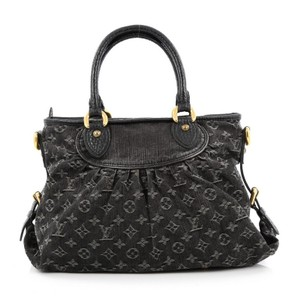 Louis Vuitton Denim Tote in Black