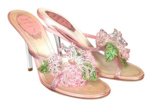 Rene Caovilla Floral Pink Color Sandals