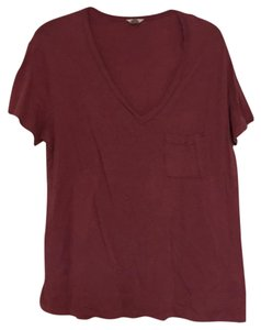 Fossil Red Valentines Sexy Casual T Shirt Rust