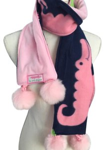Seaside Beauties Preppy Alligator Pom Pom Winter Scarf
