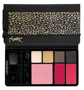 Saint Laurent YSL Holiday Palette 2014 Wildy Gold - Shimmery Shadows, Lip, Cheek. BN