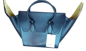 Céline Tie Tie Knot Small Knot Tote in Navy palmelato leather Celine