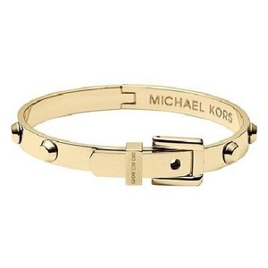 Michael Kors MKJ1819 Gold Tone Astor Stud Buckle Bangle Bracelet