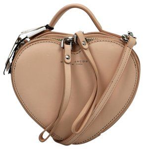 Marc Jacobs Leather Heart Clutch Cross Body Bag