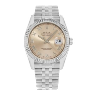 Rolex Rolex Datejust 116234 Salmon Roman Dial Automatic Men's Watch (15168)