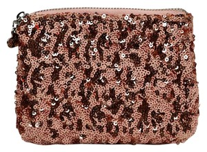 Betsey Johnson Pouch Sequins Box Pink Clutch