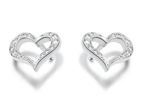 Piaget Piaget 18K White Gold Hearts Earrings with Diamonds G38L3400