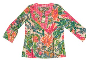 Lilly Pulitzer Lilly Ameila Island Tunic Pulitzer Top Multicolor