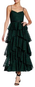 Cynthia Rowley Vintage Lace Sleeveless Ruffle Prom Dress