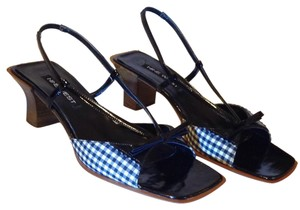 Nine West Black & White Plaid Pumps