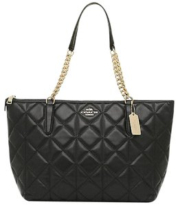 Coach Quilted Leather Ava F35808 Tote in Black