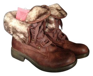 Mossimo Supply Co. Fur Bright Brown Boots