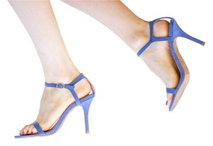 Forever 21 Heel Strappy Blue Pumps