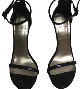 Stuart Weitzman Black Multi Glitter Formal
