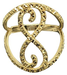Other 14K Yellow Gold Diamond Cut Inifinity Design Wide Ring